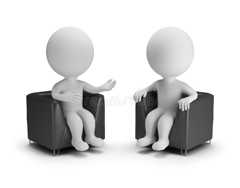 3d small people - conversation royalty free illustration