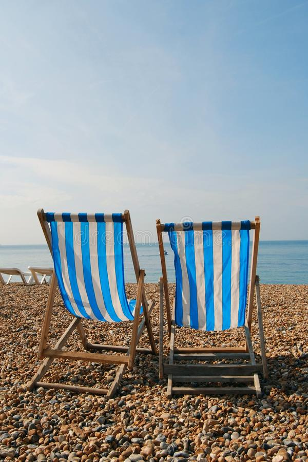 Download Two deckchairs stock image. Image of tourism, sussex - 12182135