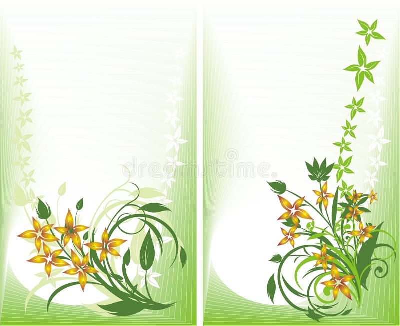 Download Two Decorative Cards. Bouquets Royalty Free Stock Photo - Image: 8564115