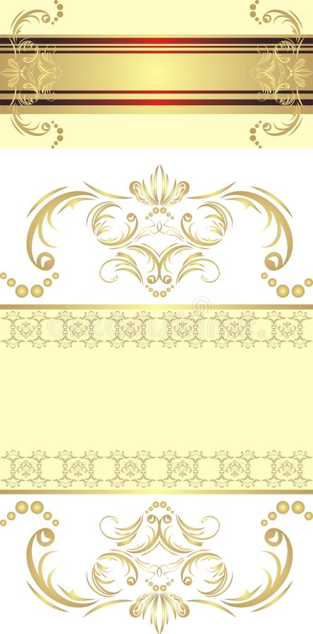 Two Decorative Golden Borders For Festive Cards Stock Vector ...