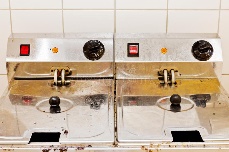 Download Two deep fryers stock image. Image of dirty, machine - 26273197
