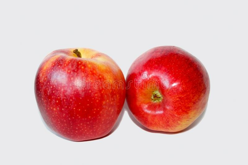 Delicious red ripe Gala Apples royalty free stock photography