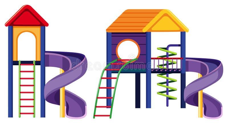 Two design of big slide. Illustration stock illustration