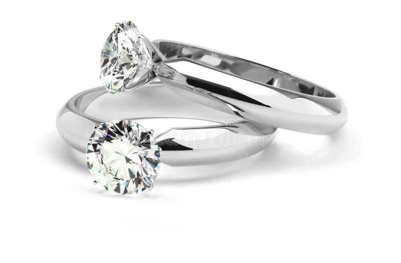 Diamond Rings royalty free stock photos
