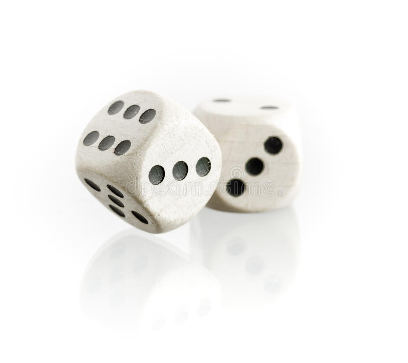 Free Two Dice With Reflection Stock Images - 21467934