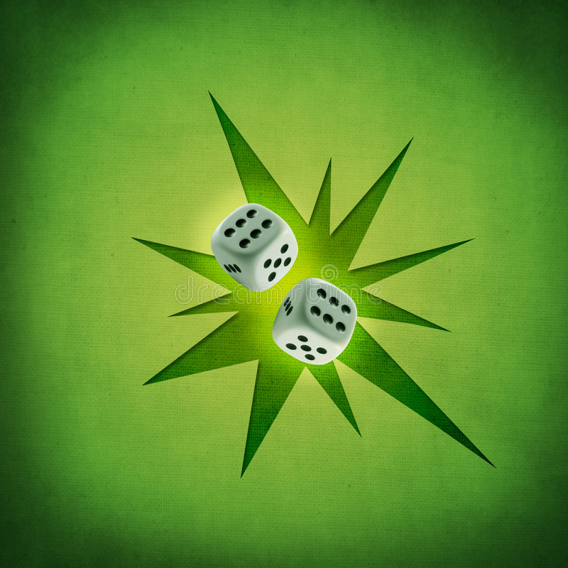 Download Two dices stock illustration. Image of retro, felt, render - 7183153