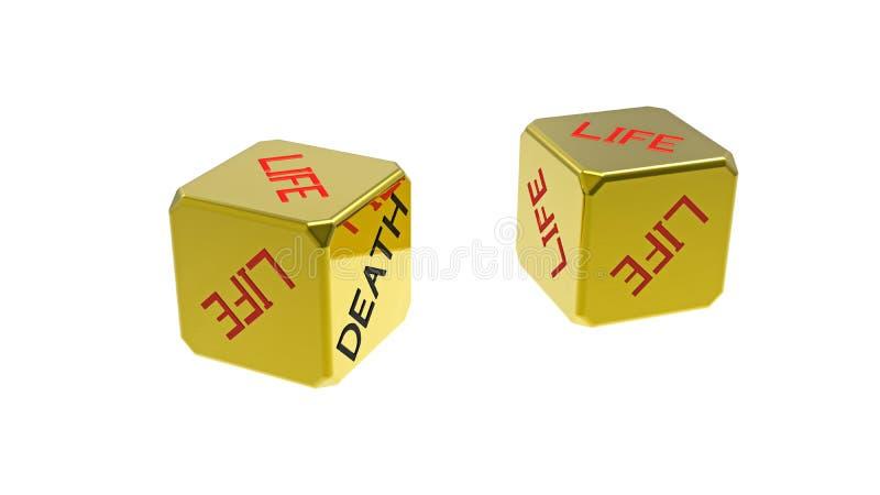 Download Two dices life death stock illustration. Illustration of render - 15542188