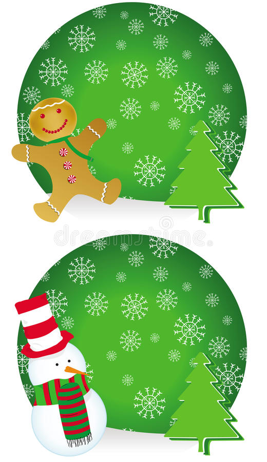 Two different Christmas concept cards stock image