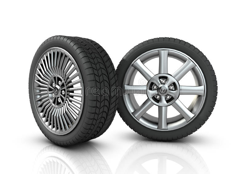 Download Two different mag wheels stock illustration. Image of bolt - 22225773