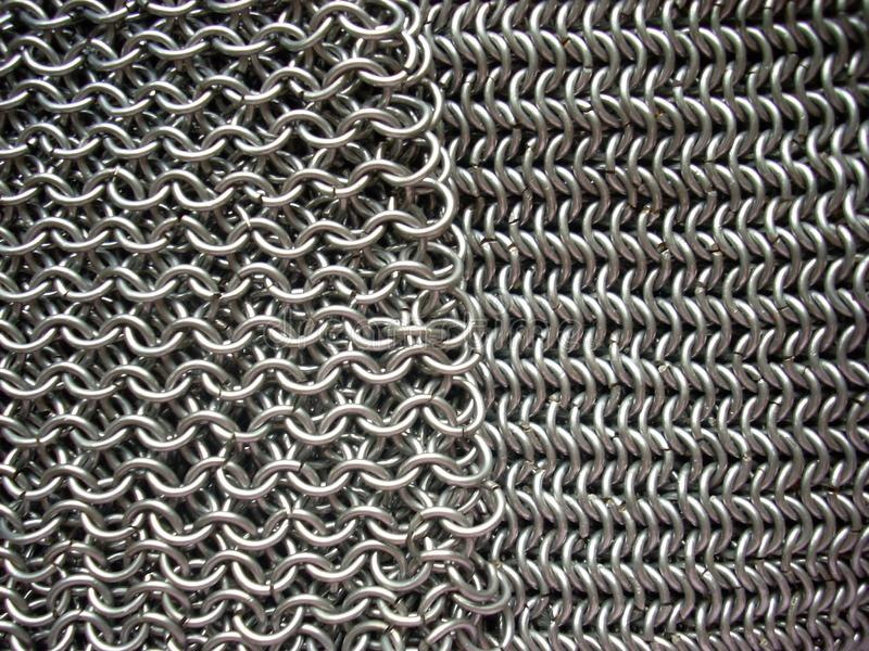 Download Two Different Patterns Of Antique Chain Mail Stock Image - Image: 5519495