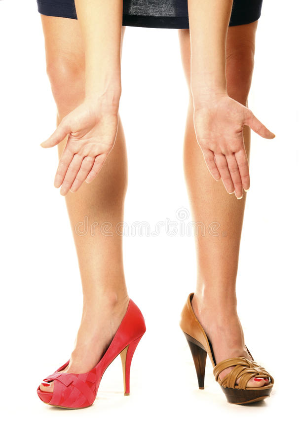 Download Two different shoes stock image. Image of adult, high - 18284941