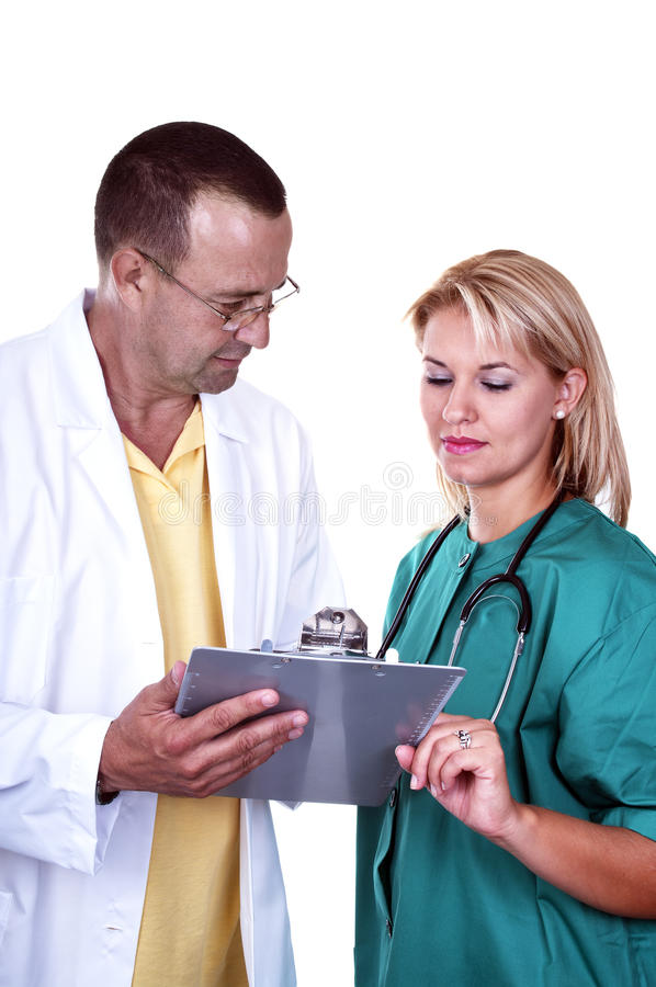 Two doctor stock photo