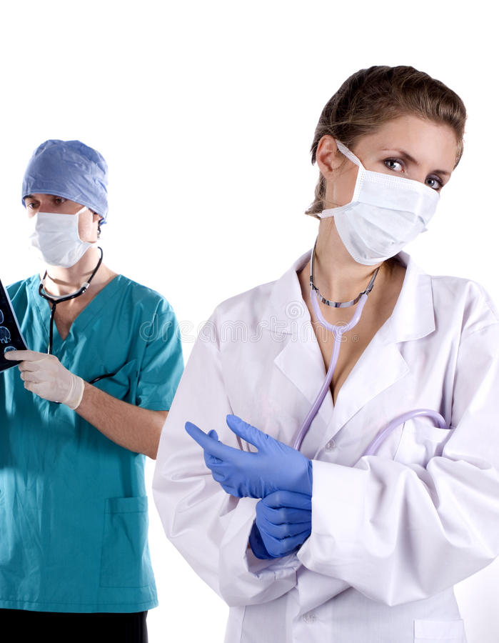 Two doctors stock image