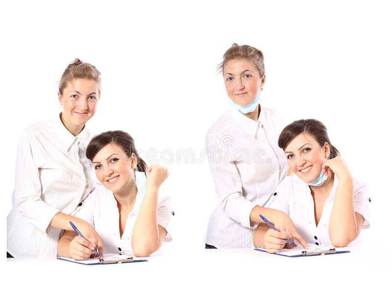 Two doctors royalty free stock photo