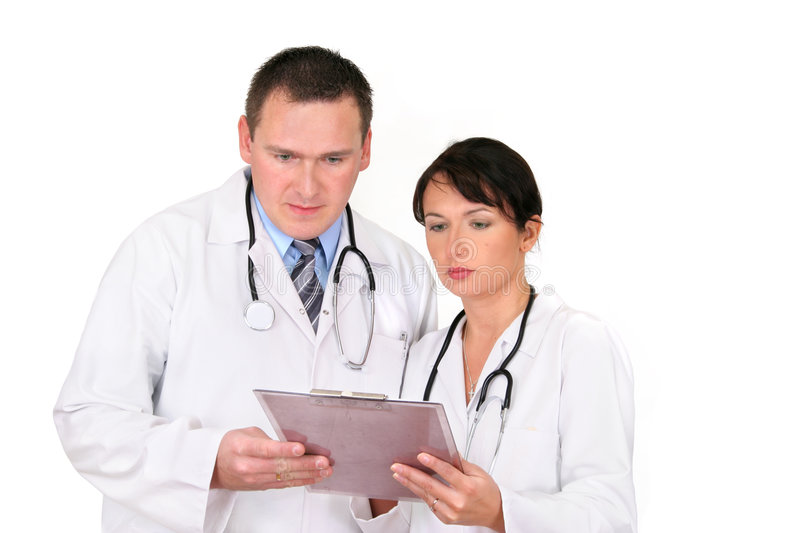 Download Two Doctors stock photo. Image of consultate, staff, isolate - 383668