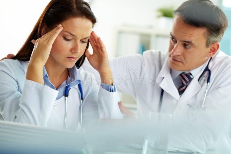 Two doctors stock photo