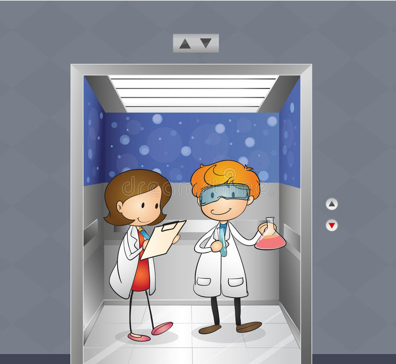 Download Two Doctors Inside The Elevator Stock Vector - Image: 31676324