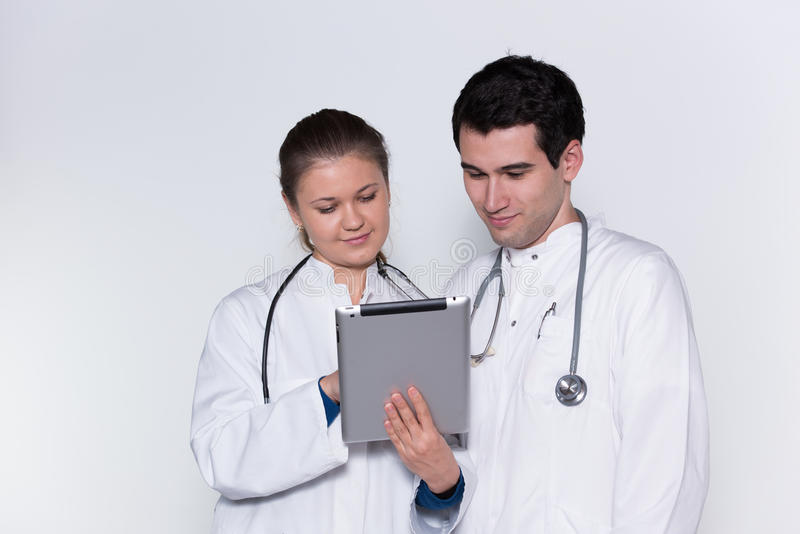 Two doctors royalty free stock photos