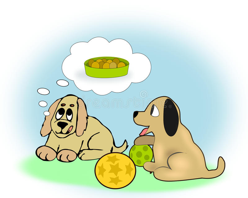 Two Dogs vector illustration