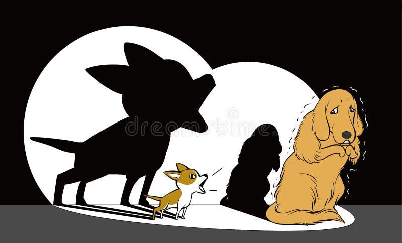 two dogs illustration stock illustration