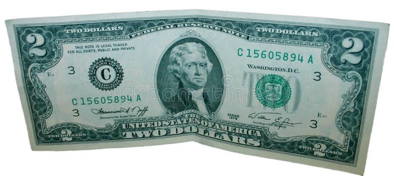 Two Dollar Bill stock image
