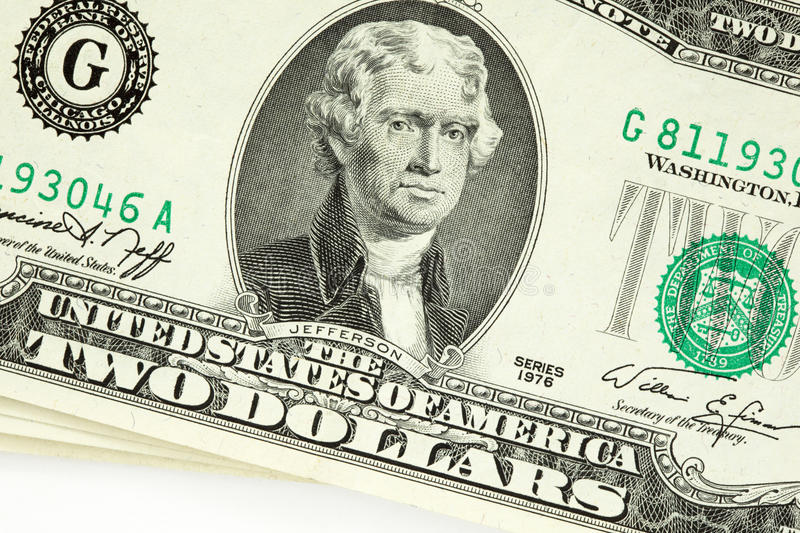 Download Two dollar bill stock photo. Image of macro, banking - 12824874