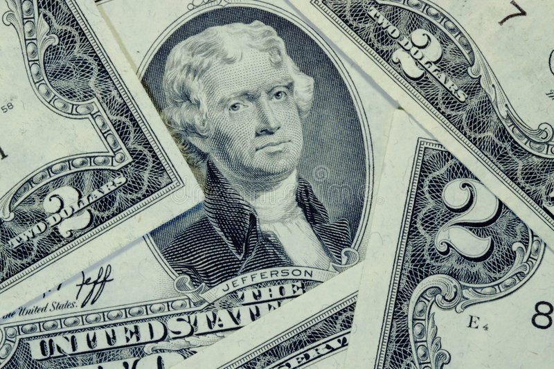 Two Dollar Bill Stock Images