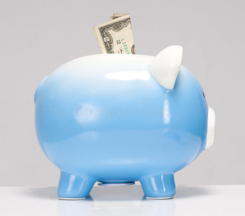 Download Two Dollar Bill Stuck In The Piggy Bank Royalty Free Stock Photo - Image: 28983015