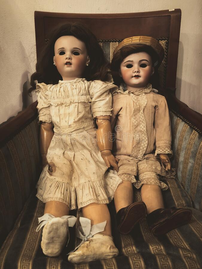 Two dolls royalty free stock images