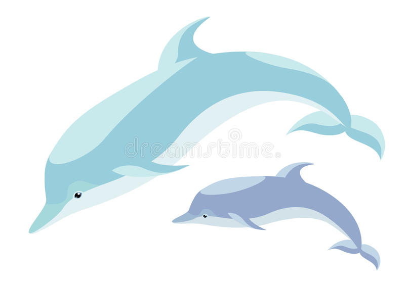 Two dolphins royalty free illustration