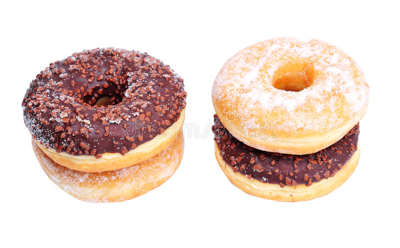 Download Two  donuts stock image. Image of cicle, diet, doughnuts - 13094243