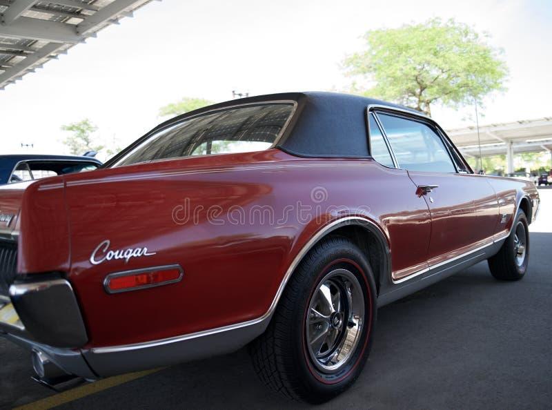 Two-door coupé van Mercury Cougar stock afbeelding