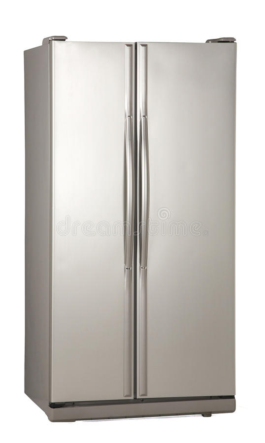 Two door freezer stock photo