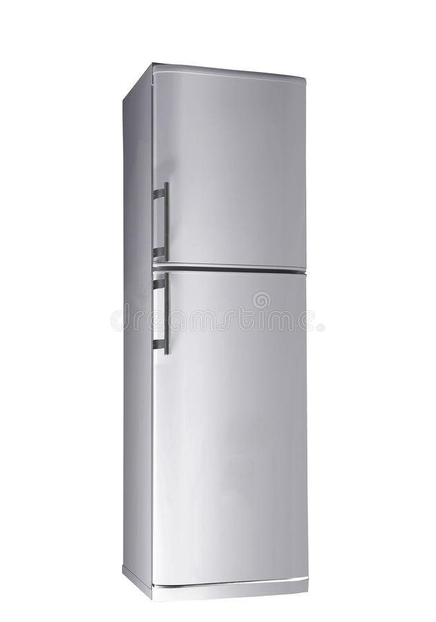 Two door freezer. On white background stock images