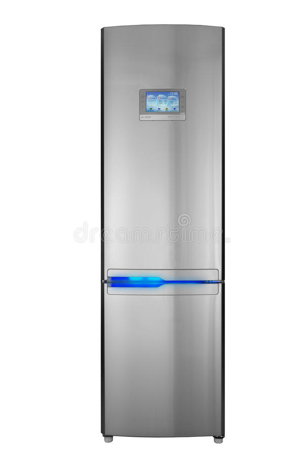Two door refrigerator stock image