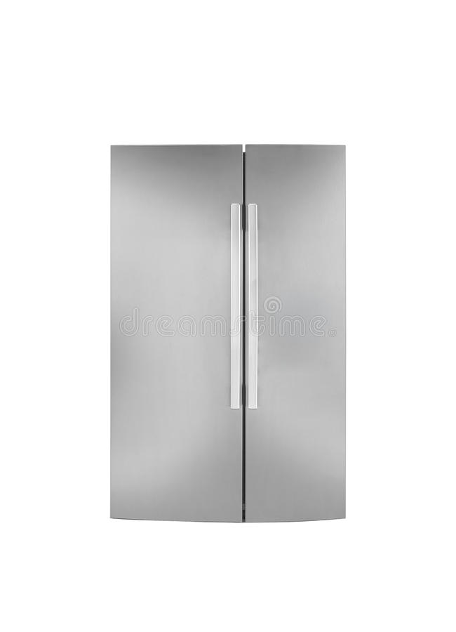 Two door refrigirator.On a white background royalty free stock photos