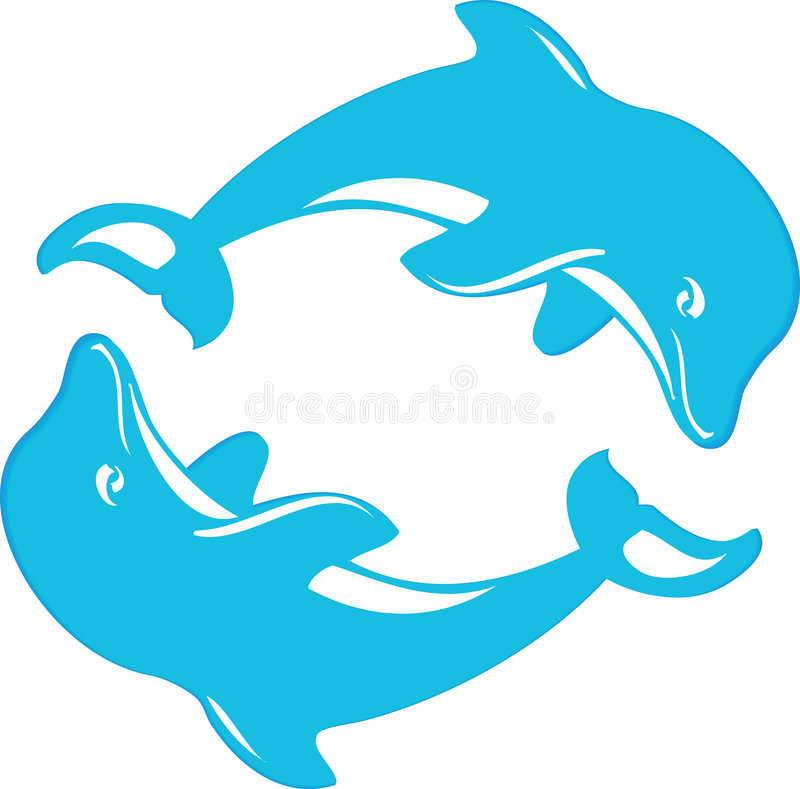 Two dophins stock photo