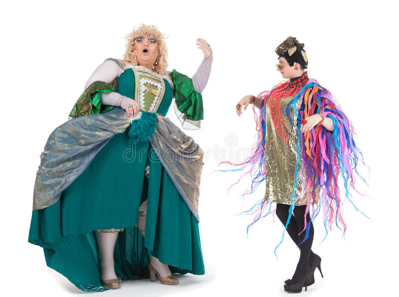 Download Two Drag Queens Having Fun Performing Together Stock Photo - Image: 32916962
