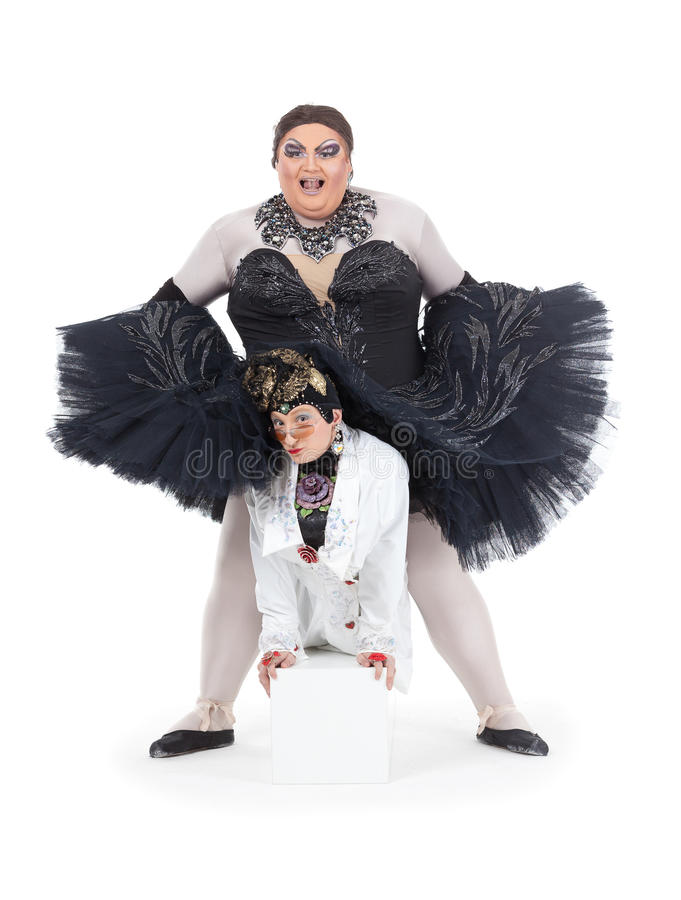 Download Two Drag Queens Performing Together Stock Image - Image: 32916897