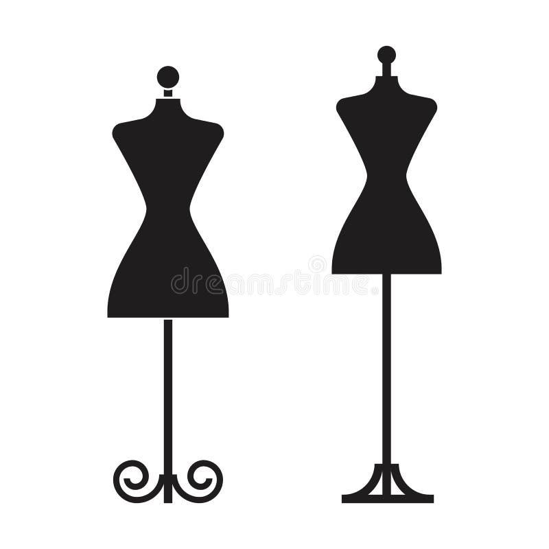 Two dummy dress illustration vector vector illustration