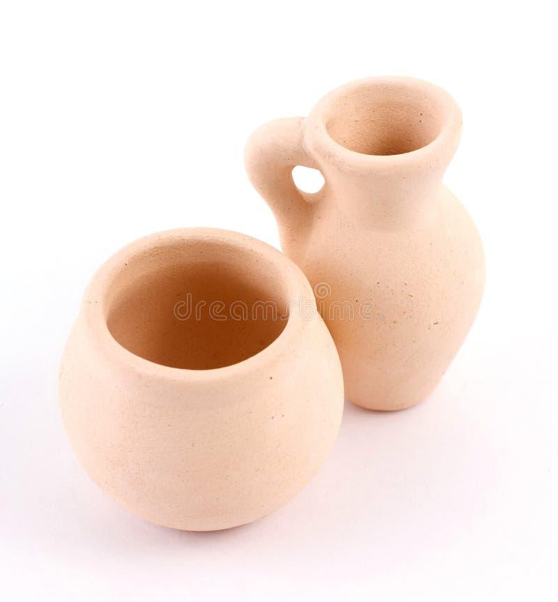 Two earthen jugs royalty free stock image