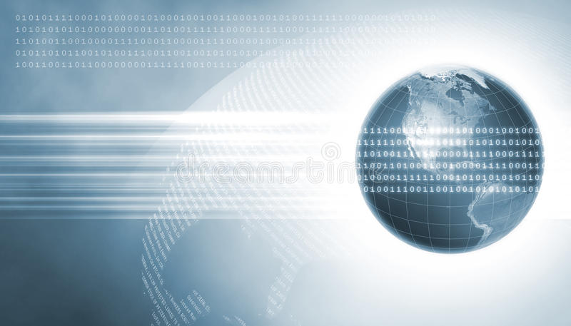 Two Earths with Data royalty free stock photos
