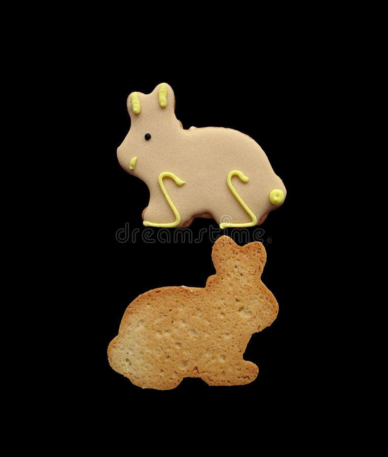 Download Two Easter Bunnies 3 stock image. Image of confection - 4541647