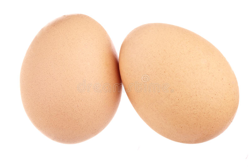 Two Eggs, completely isolated royalty free stock photography