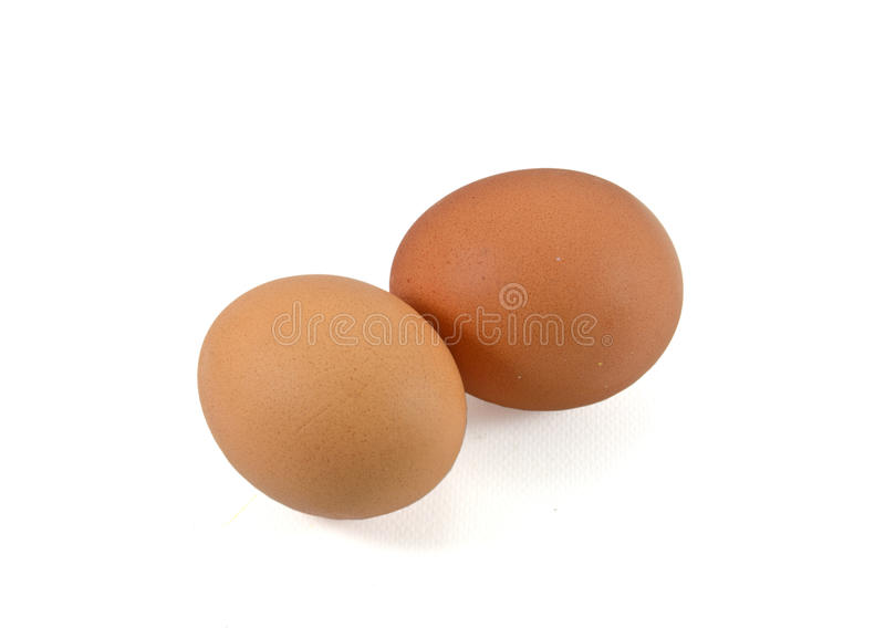 Download Two eggs are isolated stock photo. Image of object, ingredient - 30619944