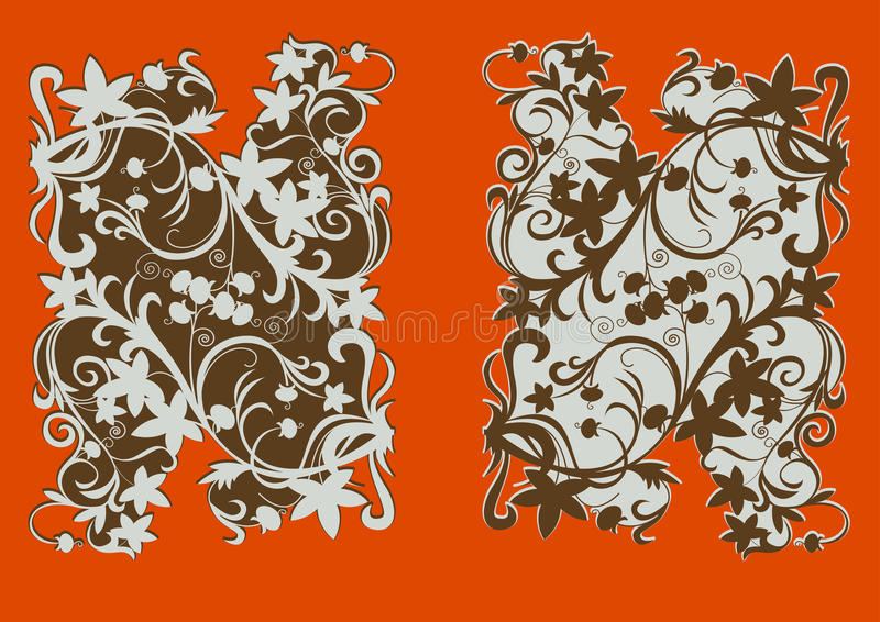 Two element decorative gold stock illustration
