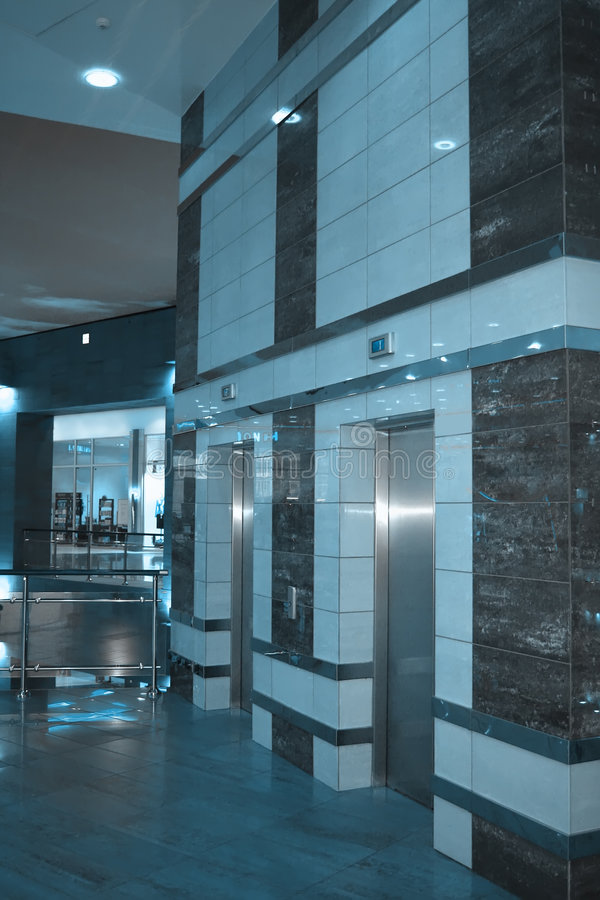Download Two elevators stock photo. Image of office, empty, construction - 4693840