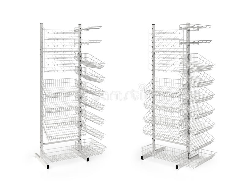 Download Two Empty Counters With Baskets Stock Illustration - Image: 25630834