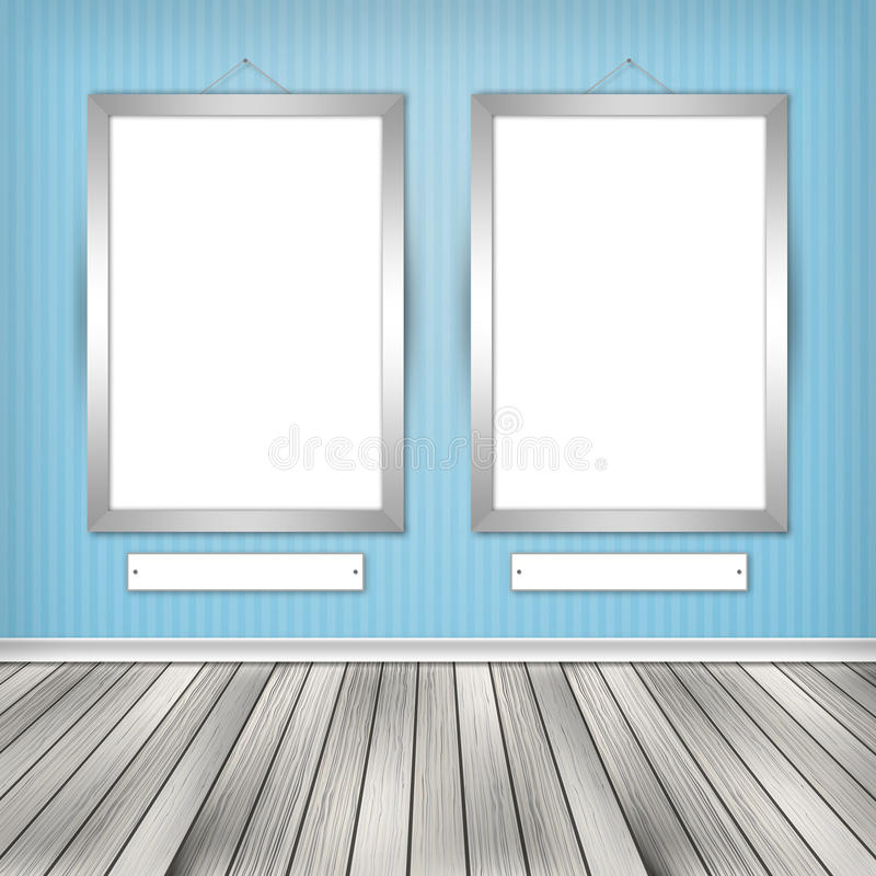 Download Two empty frames on a wall stock illustration. Image of decoration - 31826672