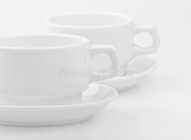 Download Two empty white cups stock image. Image of white, morning - 22931289